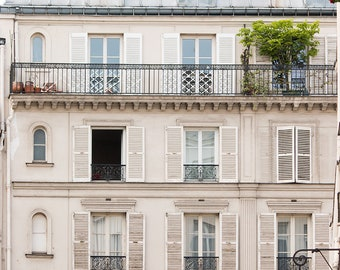 Paris Photography, The First Day of Spring, Parisian Windows, Right Bank Paris, Paris Wall Art, Rebecca Plotnick, Paris Print