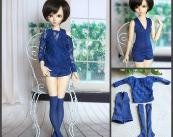 Lace blouse, swimsuit and stockings for MINIFEE  MSD, BJD 1/4 size