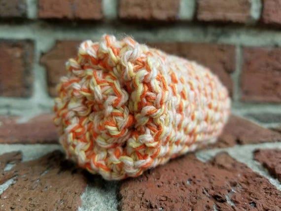Tangerine Marl Cotton Dishcloth