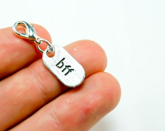 Best Friend Charm. One Sided BFF Charm Bracelet Charm. Friends Forever. SCC066