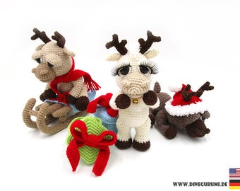 Little reindeers pattern amigurumi