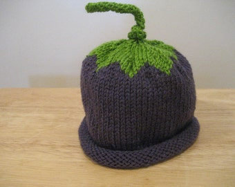 Toddler Plum Hat, Baby Knit Hat, Purple Hat, Child Plum Hat,  Free Shipping With Purchase Of Another Item