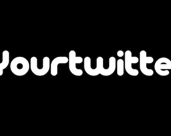 Custom Twitter Follow Me Twitter Handle Decal Sticker FREE USA SHIPPING!