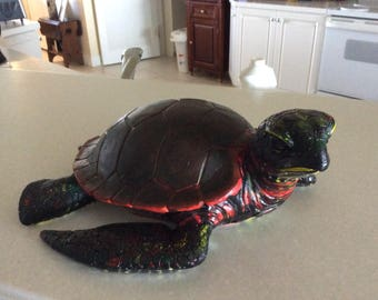 Painted Turtle in Ceramic