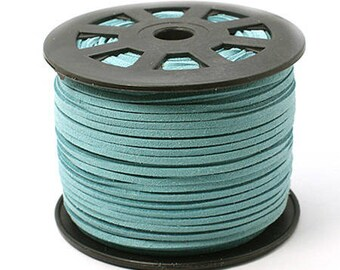 Cord cyan 3mms wide 1 mm thick