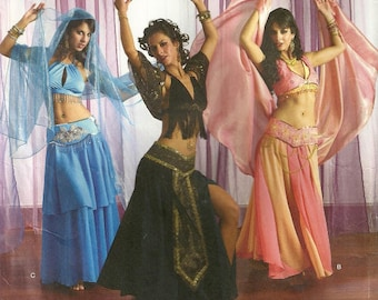 Simplicity 2941 Misses Belly Dance Dancer Halloween Costume Sewing Pattern 6 - 8 - 10 - 12