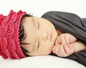 CRoCHET HAT PaTTERN: 'Rose Petal', Newborn, Baby, Toddler
