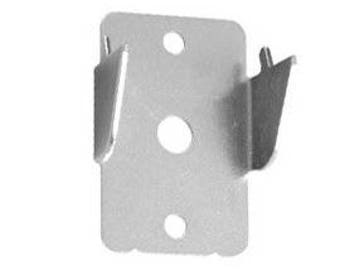 Graber Double Curtain Rod Brackets, 1 Pair, Stainless Steel (mpn# 4-809)