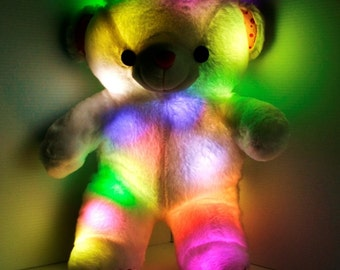 LED Light up Glow Teddy Bear - Glow Teddy Bear Pillow Pet