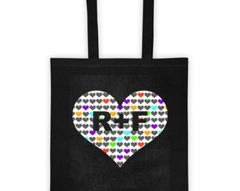 Rodan and Fields hearts tote bag