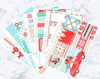 Sweater Weather Luxe Sticker Kit (Glam Planner Stickers for Erin Condren Life Planner)