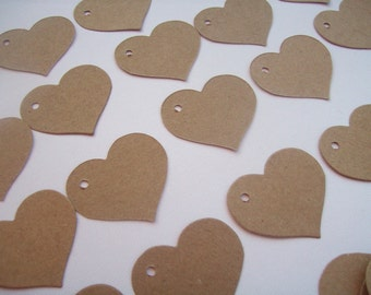 Heart Tags, Gift Tags, Set of 100, Wedding Tags, Earring Tags, Business Tag, Shower Tags