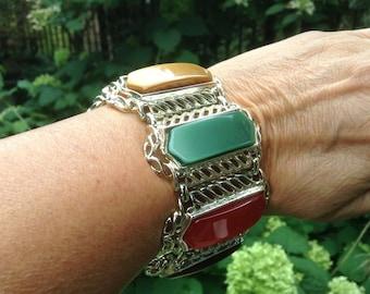 1950s Bracelet / Large Thermoset Bracelet / Vintage Bracelet / Vintage Thermoset