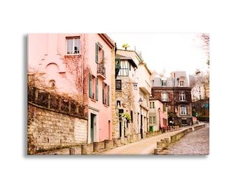 Paris Photo on Canvas, Montmartre, Rue de l'Abreuvoir, Fine Art Gallery Wrapped Canvas, Large Wall Art, French Home Decor
