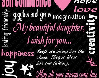 daughter vinyl subway art template download my wish for you vinyl subway art download template vinyl art download little girl wishes vinyl