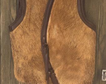 Seventies Horse Hair Vintage Waistcoat