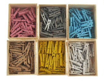 Mini Wooden Clothespins, 1-1/4-Inch, 50-Count