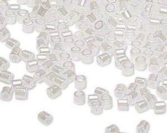 Delica Seed Beads #8 Ceylon Pearl White