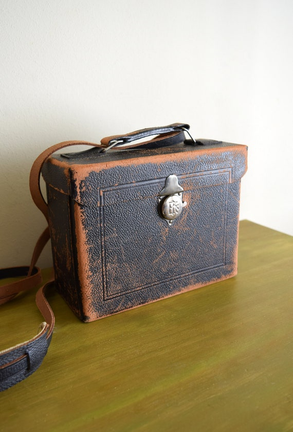 Vintage Leather Crossbody Camera Case ~ Urban, Industrial, Boho, Curio Purse