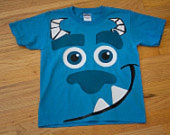 adult sized mike or sulley t-shirts