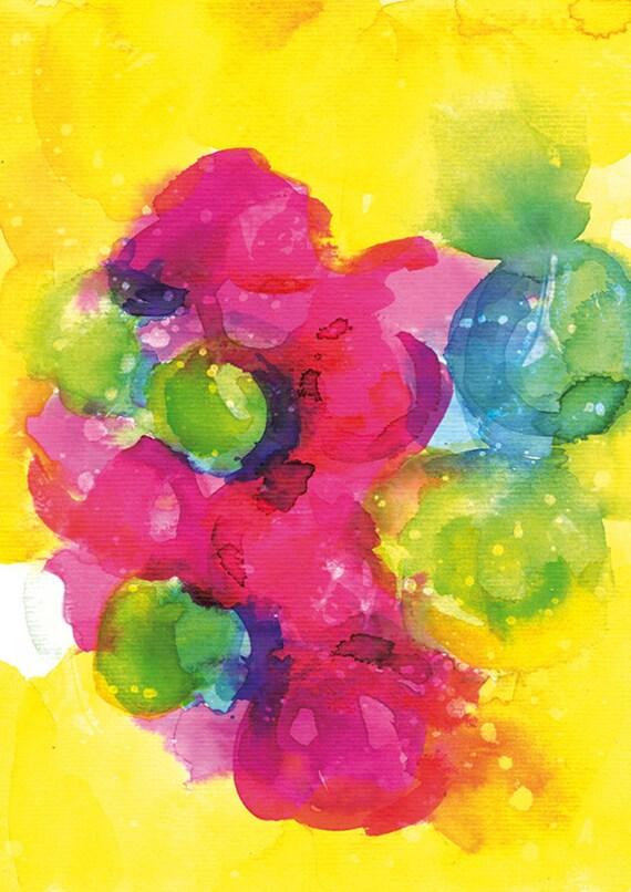 SALE- Sunshine Yellow Archival Art Print