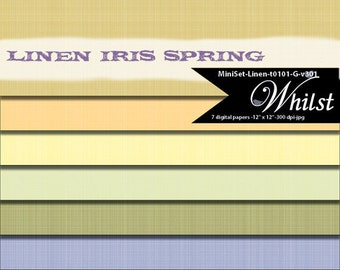 Linen digital paper texture spring scrapbooking in yellow gold purple : t101 G v301
