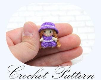 PATTERN: Micro Mini Doll, Amigurumi Pattern, Miniature Doll, One Inch Doll, Crochet Pattern (English Only)