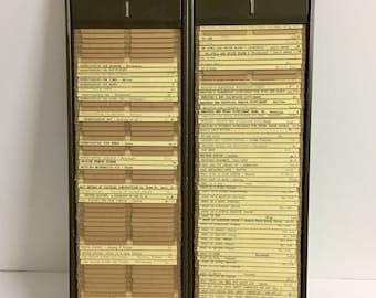 Vintage Metal Kardex file/ Vintage Metal File Drawer/ Vintage Library File Drawer/ Vintage Kardex File/ Vintage Library/ Vintage Decor