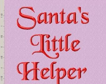 Santa's Little Helper Embroidery Design