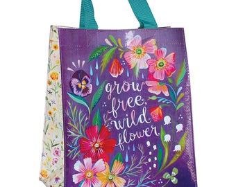 Grow Free Wildflower Reusable Tote Bag | Small Grocery Bag
