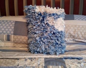 Baby Blue Rag Pillow