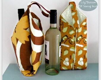 PDF Sewing Pattern Wine Bottle Carrier