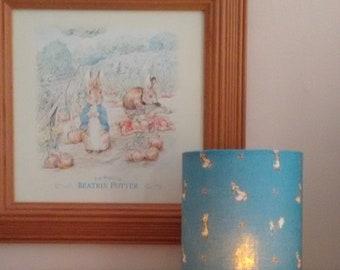 Peter rabbit night light blue