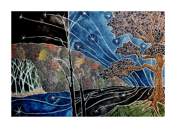Backwoods -  giclee PRINT of original watercolor