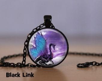 Blue Wing Dragon Necklace Dragon Pendant Necklace or Dragon Keyring Dragon Jewelry Dragon Pendant Dragon Necklace