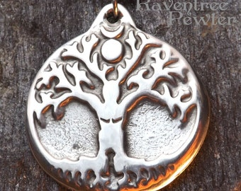 Spirit Tree - Pewter Pendant - Spirit of the Forest, Green Man, Nature Jewelry