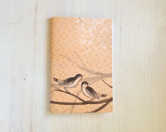 Large Notebook: Birds, Orange, Wedding, Favor, Notebook, Unlined, Journal, For Her, For Him, Gift, Unique, Blank Journal, Geometric, L8-030