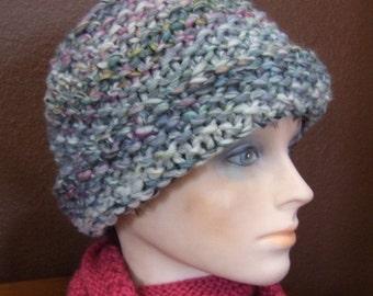 Brimmed, Seed Stitch Hat Knitting Pattern