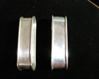 A Pair of Sterling Silver Oblong or Oval Napkin Rings Made by R. Blackington Company