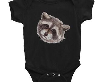 Baby Trash Panda Raccoon Infant Bodysuit