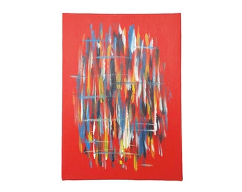 """Original Abstract Painting on Canvas Board (7"""" x 5"""")"""