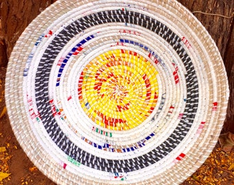 White and Yellow Basket