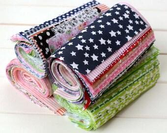 50 pieces/lot Mixed Fabric Lot - Cotton- Patchwork - Sewing -Fabrics Patchwork - Scraps