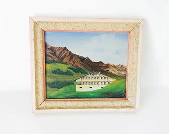 Switzerland Chalet / painting / 1980