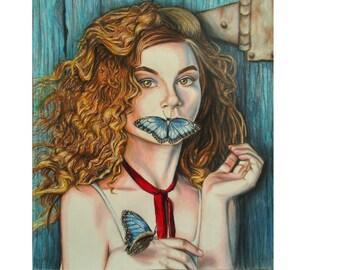 Original artwork Vidalia  - Southern art - Original drawing - Colored pencil artwork - Original art, Wall decor, Country art, Rustic artwork