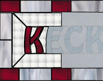 Custom Stained Glass Window Panel