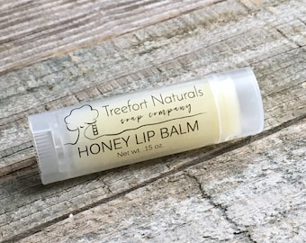Honey Lip Balm - All Natural, made with local honey & beeswax