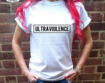 ULTRAVIOLENCE T-SHIRT |   Premium Quality ! - Made in London / Fast Delivery to the Usa , Canada , Australia & Europe !