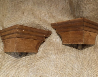Old Furniture Feet, Set of 2 Antique Furniture Legs, Furniture Parts Salvage