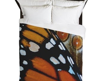 Duvet Cover, Monarch Butterfly, Boho Decor, Butterfly Wings, Cottage Decor, Farmhouse Decor, Country Chic, Girls Bedding, Gift for Her
